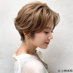 ショート マッシュショート ベリーショート 外国人風カラー ヘアスタイルや髪型の写真・画像