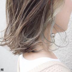 外国人風カラー アンニュイほつれヘア 外ハネボブ ボブ ヘアスタイルや髪型の写真・画像