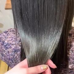 カラートリートメント トリートメント 髪質改善トリートメント セミロング ヘアスタイルや髪型の写真・画像