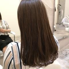 大人かわいい ロング 大人女子 グレージュ ヘアスタイルや髪型の写真・画像
