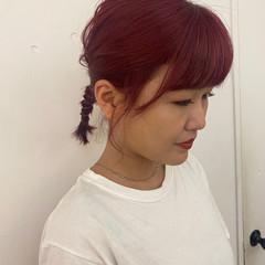 ピンクラベンダー ピンクパープル ベリーピンク ラズベリーピンク ヘアスタイルや髪型の写真・画像