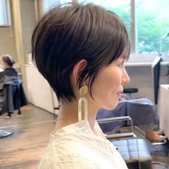 30代 ショート ショートボブ 前髪 ヘアスタイルや髪型の写真・画像