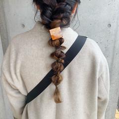 セルフヘアアレンジ ヘアアレンジ ポニーテールアレンジ セルフアレンジ ヘアスタイルや髪型の写真・画像