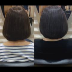 ミニボブ ボブ 髪質改善トリートメント ナチュラル ヘアスタイルや髪型の写真・画像
