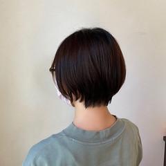 ショートボブ ショート 大人ショート ナチュラル ヘアスタイルや髪型の写真・画像