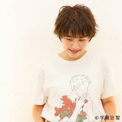 ショートヘア ショート 外国人風パーマ 無造作パーマ ヘアスタイルや髪型の写真・画像