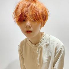 ショートヘア ナチュラル ショートボブ ミニボブ ヘアスタイルや髪型の写真・画像