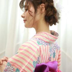 まとめ髪 ナチュラル 和装 ヘアアレンジ ヘアスタイルや髪型の写真・画像