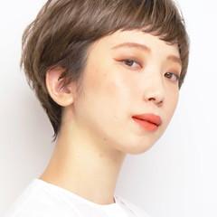 デート ハンサムショート アンニュイほつれヘア マッシュショート ヘアスタイルや髪型の写真・画像