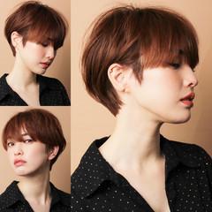 ショートボブ 小顔ショート ショート 30代 ヘアスタイルや髪型の写真・画像