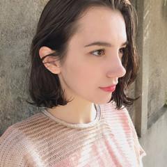 ハイライト パーマ 大人かわいい ロブ ヘアスタイルや髪型の写真・画像