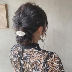 ミディアム 結婚式ヘアアレンジ イベント ミディアムヘアー ヘアスタイルや髪型の写真・画像