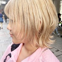 マッシュウルフ ナチュラル アッシュ アッシュベージュ ヘアスタイルや髪型の写真・画像