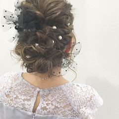 デート ヘアアレンジ 結婚式 パーティ ヘアスタイルや髪型の写真・画像