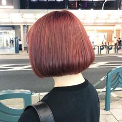 オレンジカラー オレンジ ナチュラル アプリコットオレンジ ヘアスタイルや髪型の写真・画像