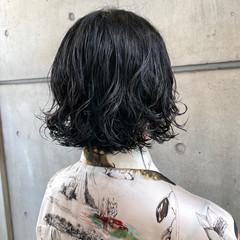 切りっぱなしボブ  ミニボブ デジタルパーマ ヘアスタイルや髪型の写真・画像