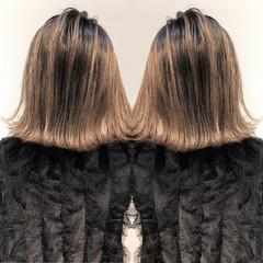 ボブ エレガント グレージュ 外国人風 ヘアスタイルや髪型の写真・画像