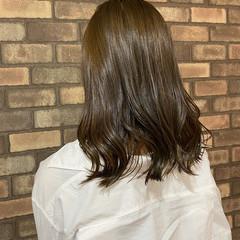透明感 ミディアム イルミナカラー 艶髪 ヘアスタイルや髪型の写真・画像