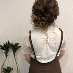 結婚式 アップスタイル ヘアアレンジ フェミニン ヘアスタイルや髪型の写真・画像