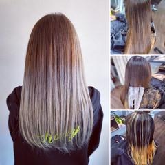 ベージュ アッシュベージュ ブリーチカラー エレガント ヘアスタイルや髪型の写真・画像