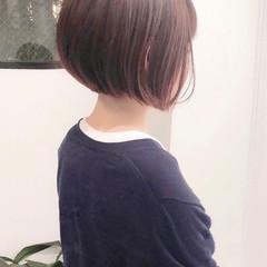 ショートボブ ウルフカット ナチュラル ミニボブ ヘアスタイルや髪型の写真・画像
