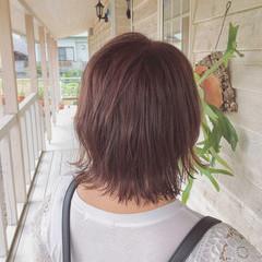 インナーカラー ハイライト ピンクカラー ピンクベージュ ヘアスタイルや髪型の写真・画像