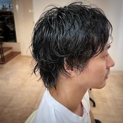 ショート ツーブロック ツイスト スパイラルパーマ ヘアスタイルや髪型の写真・画像