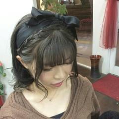 ナチュラル ハーフアップ ヘアアレンジ 編み込み ヘアスタイルや髪型の写真・画像