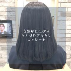 髪質改善 セミロング ナチュラル 前髪 ヘアスタイルや髪型の写真・画像