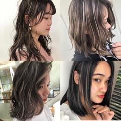 ハイライト 外国人風カラー ナチュラル 3Dハイライト ヘアスタイルや髪型の写真・画像