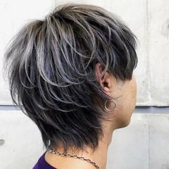 メンズヘア マッシュウルフ ウルフカット メンズショート ヘアスタイルや髪型の写真・画像