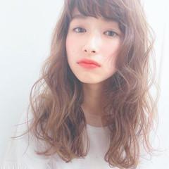 簡単ヘアアレンジ 小顔ヘア ナチュラル ミディアム ヘアスタイルや髪型の写真・画像