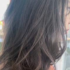 外国人風 ベージュ グラデーションカラー ミディアム ヘアスタイルや髪型の写真・画像