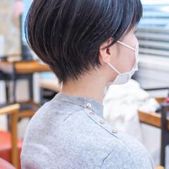 くびれボブ ショート ショートボブ フェミニン ヘアスタイルや髪型の写真・画像