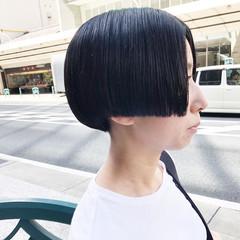 ショートボブ 小顔ショート モード 大人ショート ヘアスタイルや髪型の写真・画像