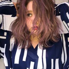 外国人風 ストリート ダブルカラー セミロング ヘアスタイルや髪型の写真・画像