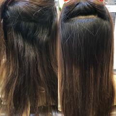 艶髪 トリートメント ロング 縮毛矯正 ヘアスタイルや髪型の写真・画像