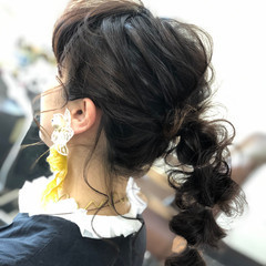 セミロング 結婚式ヘアアレンジ ふわふわヘアアレンジ ヘアアレンジ ヘアスタイルや髪型の写真・画像