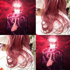 ボブ ラベンダーピンク ラズベリーピンク ピンクラベンダー ヘアスタイルや髪型の写真・画像