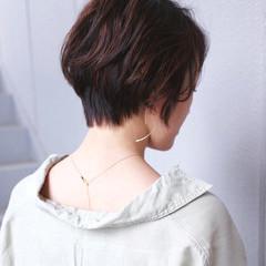 ショート ナチュラル ショートヘア ハイライト ヘアスタイルや髪型の写真・画像