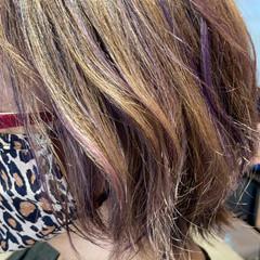 ブリーチオンカラー ウルフカット 大人ミディアム ナチュラル ヘアスタイルや髪型の写真・画像