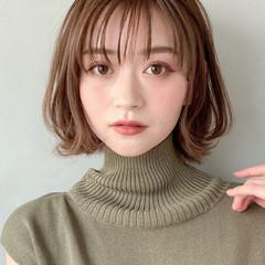 デジタルパーマ 大人ヘアスタイル アンニュイほつれヘア 外ハネボブ ヘアスタイルや髪型の写真・画像