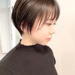 ベリーショート ナチュラル 大人かわいい ショート ヘアスタイルや髪型の写真・画像