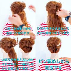 上品 涼しげ 夏 簡単ヘアアレンジ ヘアスタイルや髪型の写真・画像