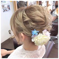 ヘアアレンジ 和装 フェミニン ボブ ヘアスタイルや髪型の写真・画像