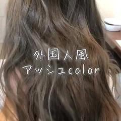 ブリーチ 透明感 外国人風 ロング ヘアスタイルや髪型の写真・画像