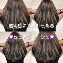 ストリート 外国人風カラー セミロング ハイライト ヘアスタイルや髪型の写真・画像