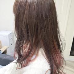 ピンクベージュ ナチュラル ロング ピンク ヘアスタイルや髪型の写真・画像