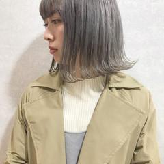 ブリーチ ハイライト ハイトーンカラー ボブ ヘアスタイルや髪型の写真・画像