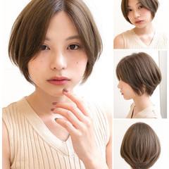 縮毛矯正 ショート ショートボブ ストレート ヘアスタイルや髪型の写真・画像